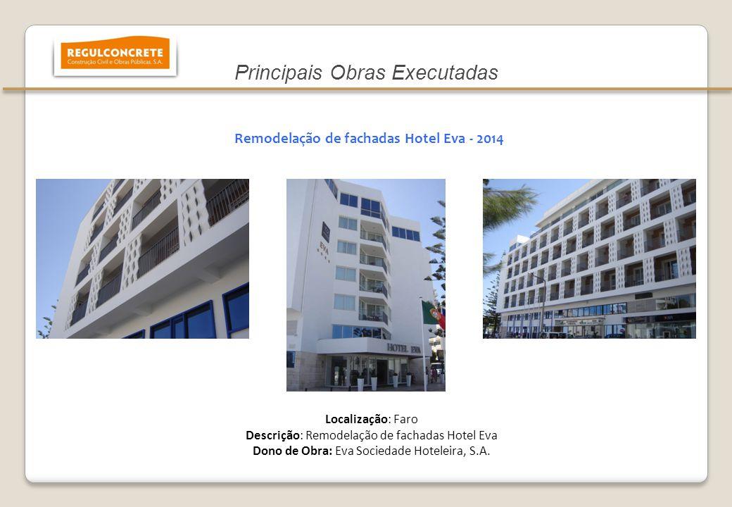 Remodelação de fachadas Hotel Eva - 2014