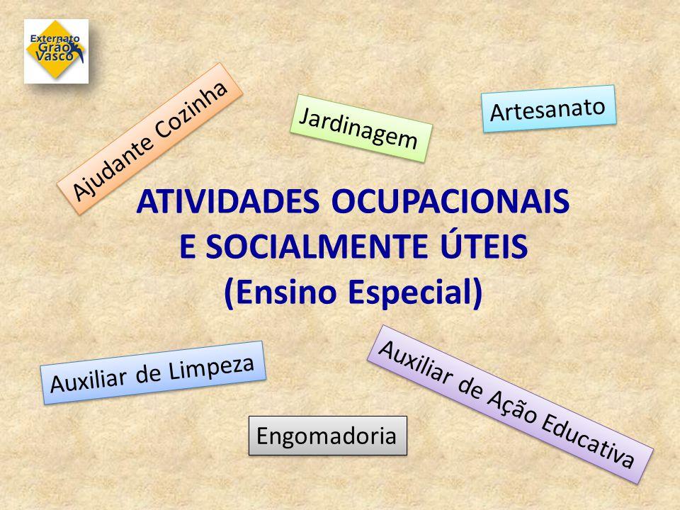 ATIVIDADES OCUPACIONAIS E SOCIALMENTE ÚTEIS (Ensino Especial)