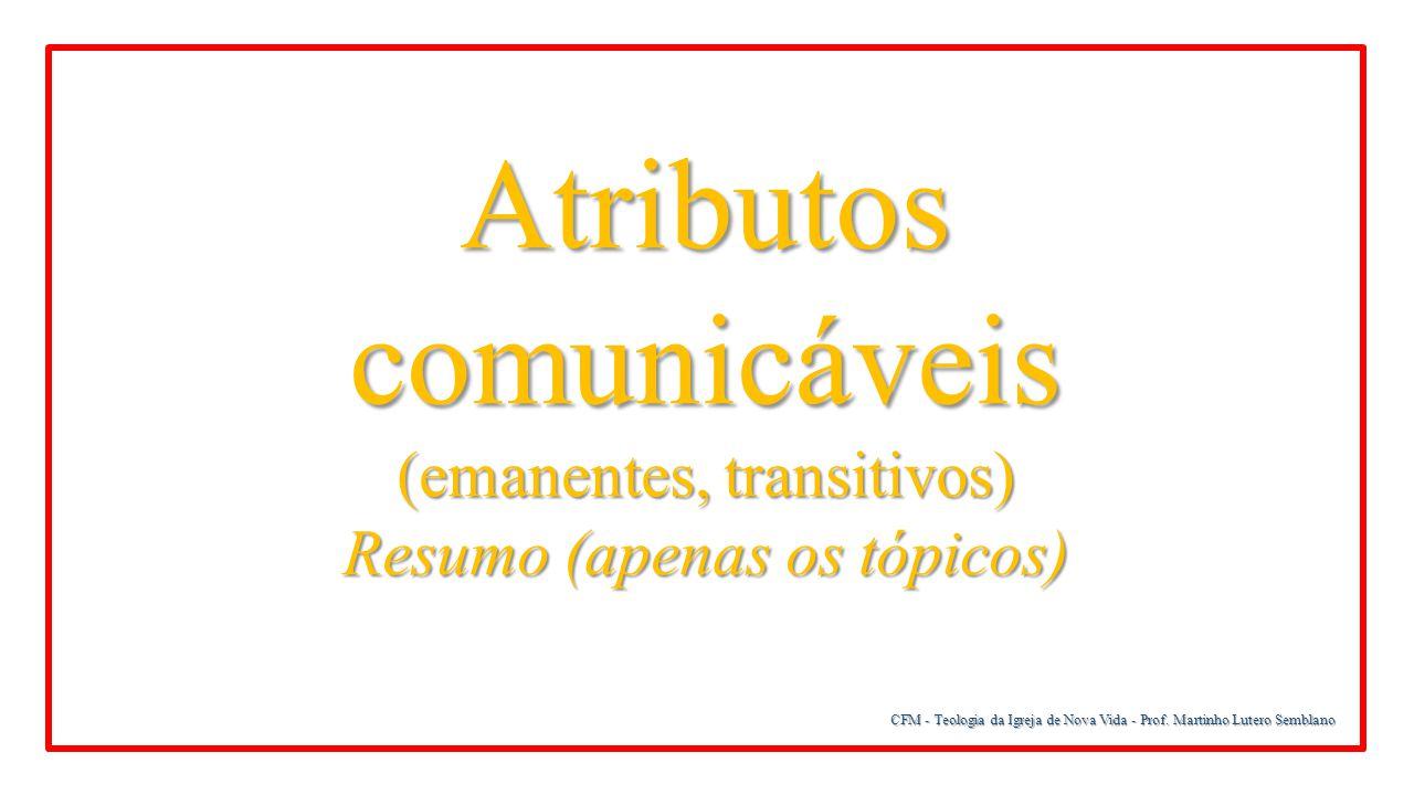 Atributos comunicáveis