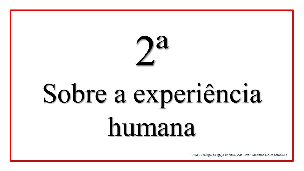 Sobre a experiência humana