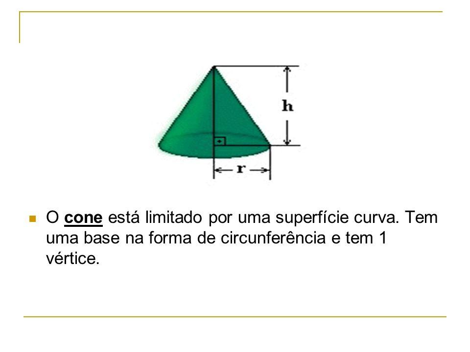 O cone está limitado por uma superfície curva