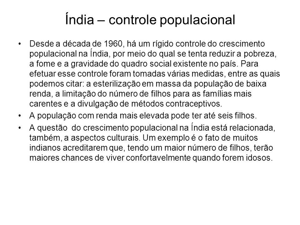 Índia – controle populacional