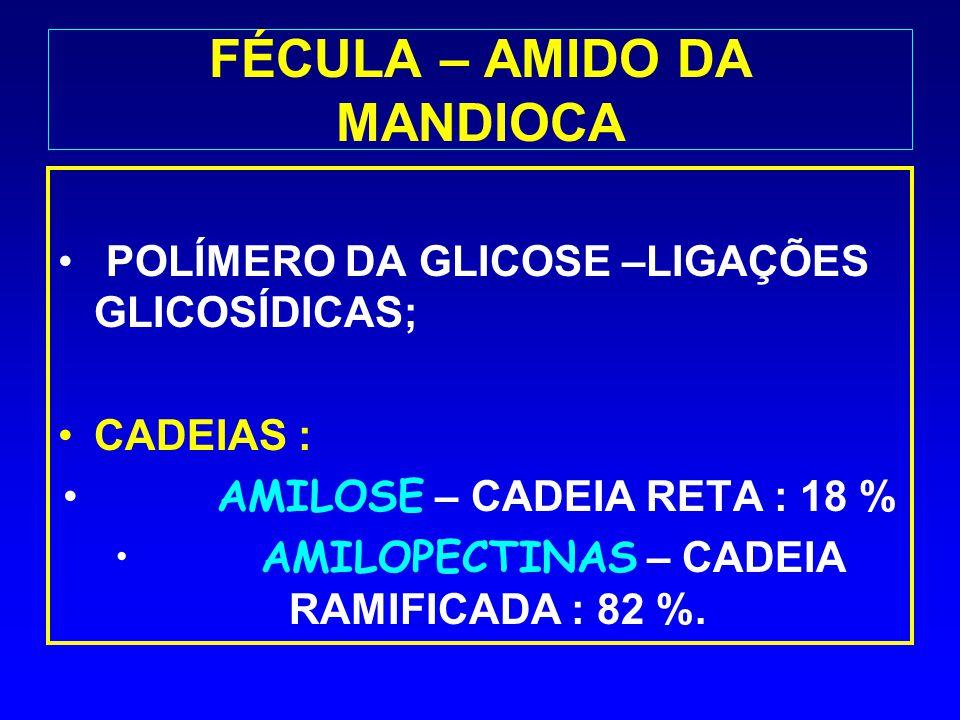 FÉCULA – AMIDO DA MANDIOCA