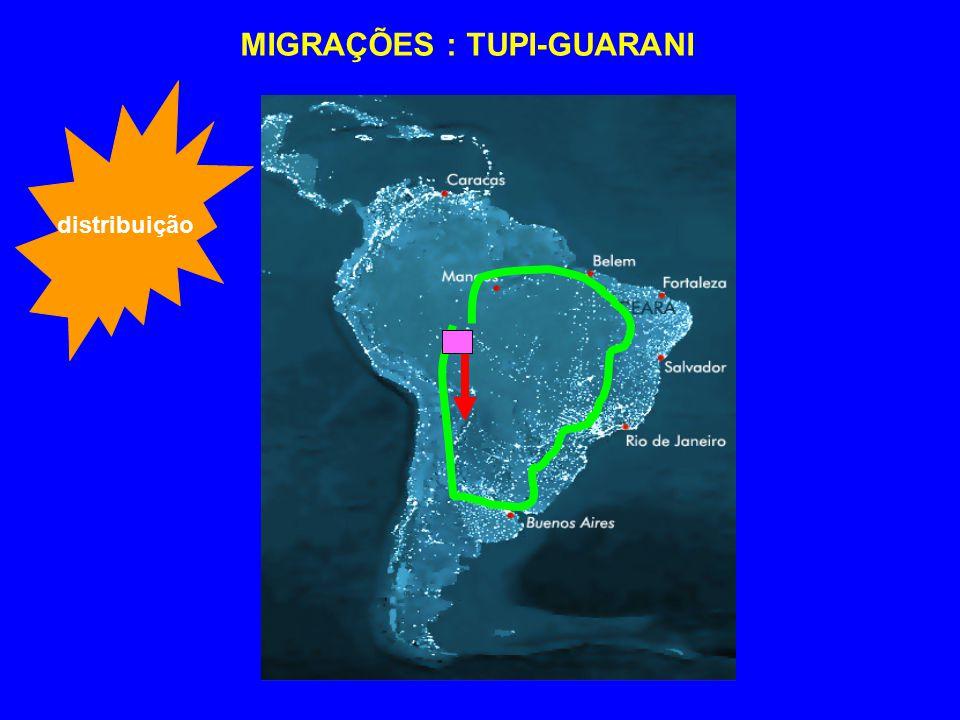 MIGRAÇÕES : TUPI-GUARANI