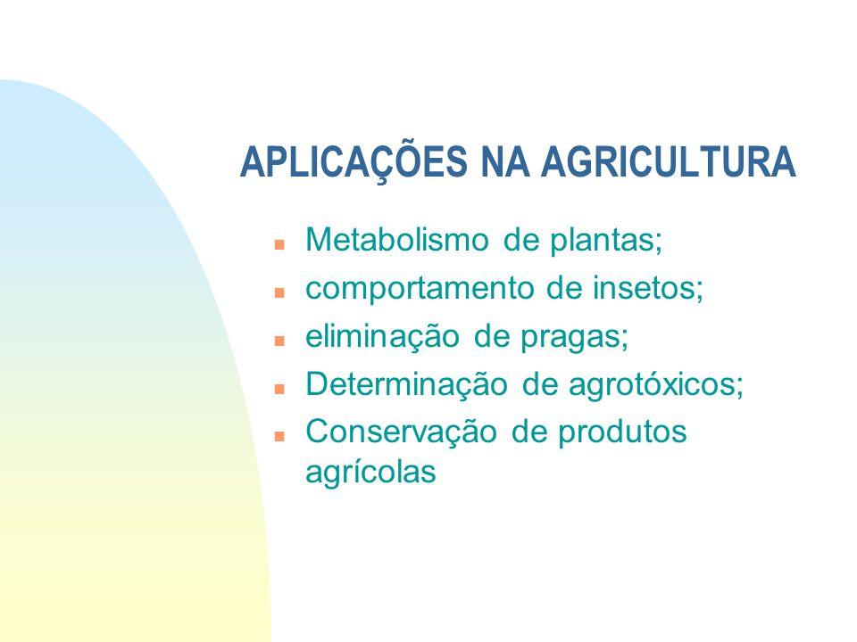 APLICAÇÕES NA AGRICULTURA
