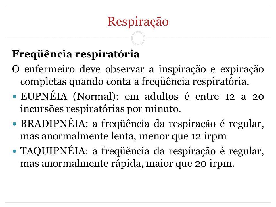 Respiração Freqüência respiratória