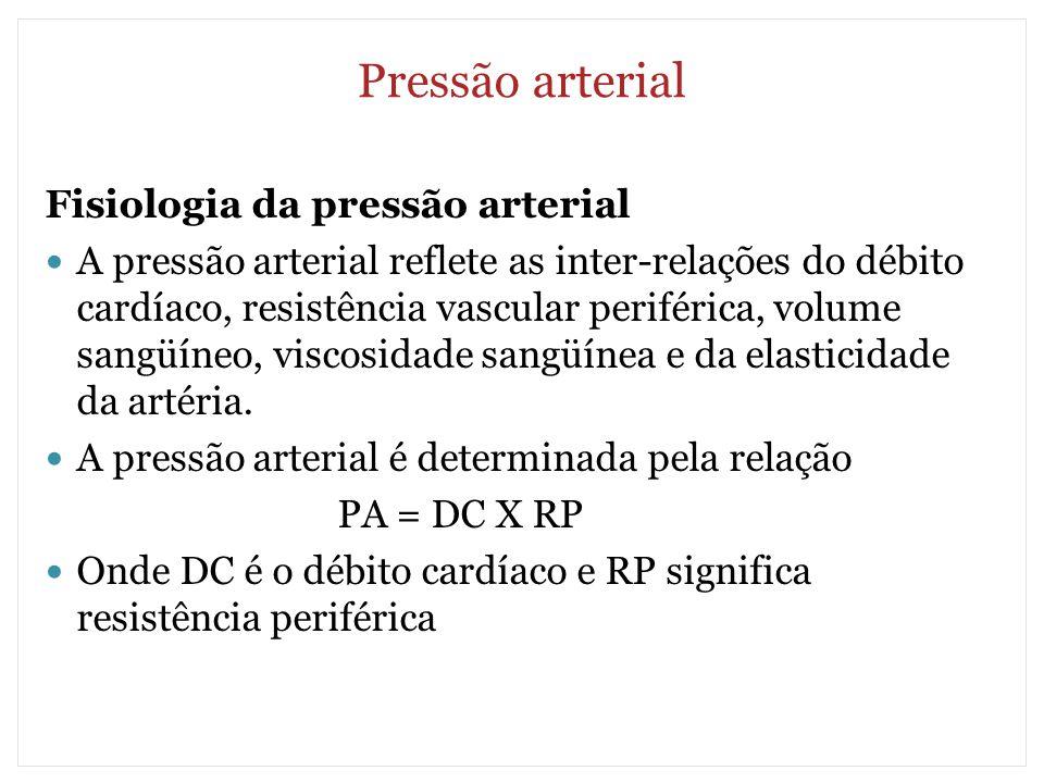 Pressão arterial Fisiologia da pressão arterial