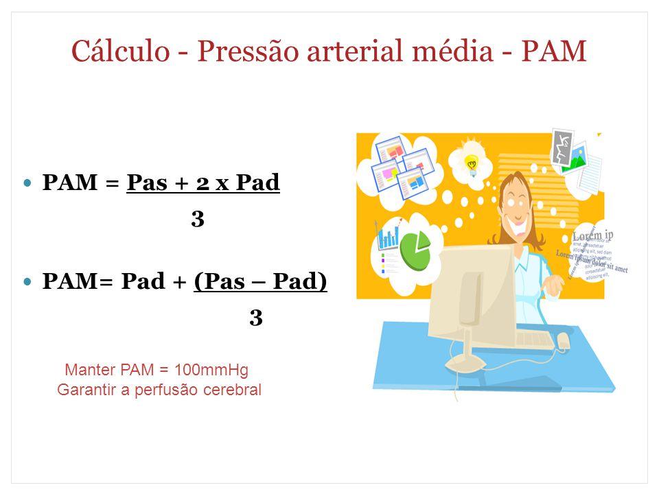 Cálculo - Pressão arterial média - PAM