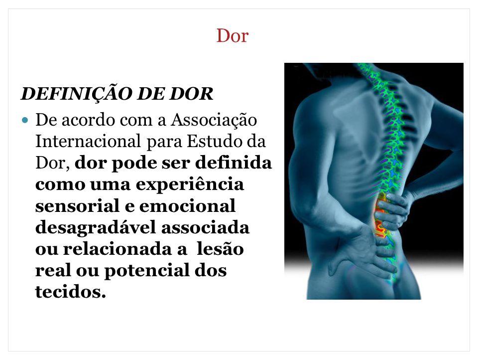 Dor DEFINIÇÃO DE DOR.