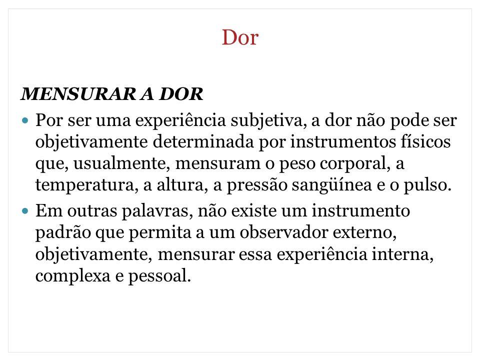 Dor MENSURAR A DOR.