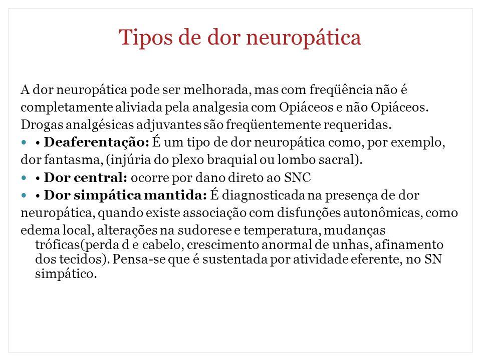 Tipos de dor neuropática