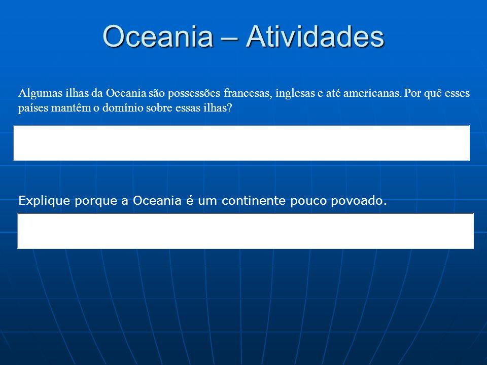 Oceania – Atividades