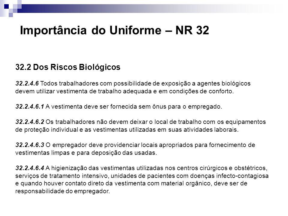 Importância do Uniforme – NR 32