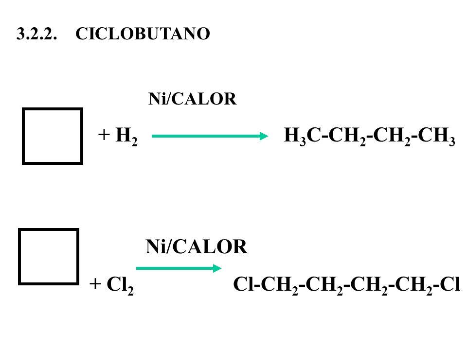 + Cl2 Cl-CH2-CH2-CH2-CH2-Cl
