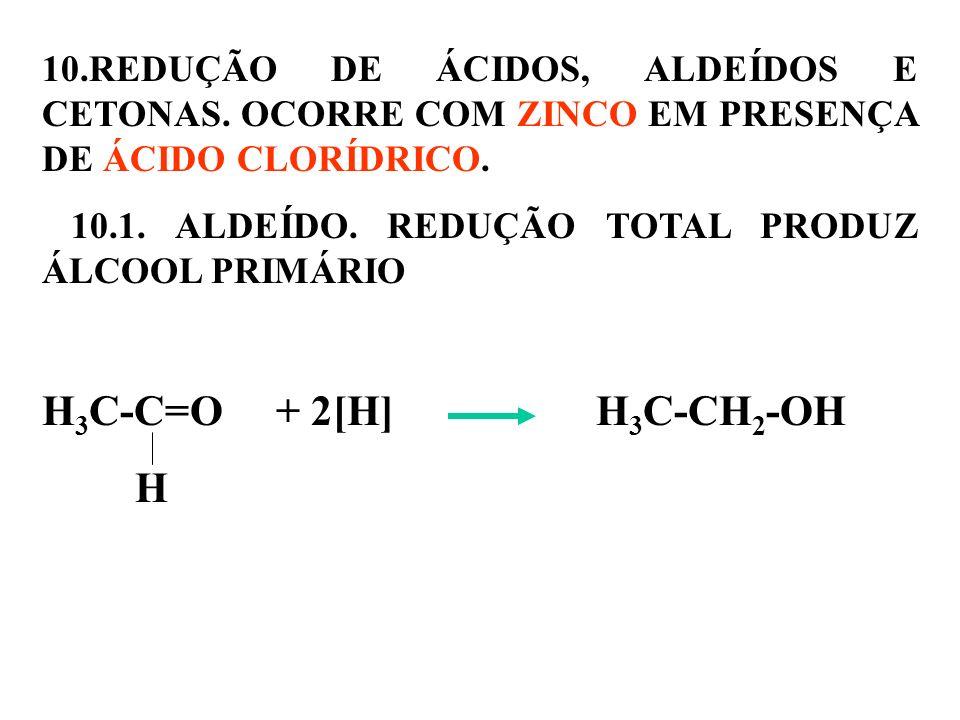10. REDUÇÃO DE ÁCIDOS, ALDEÍDOS E CETONAS