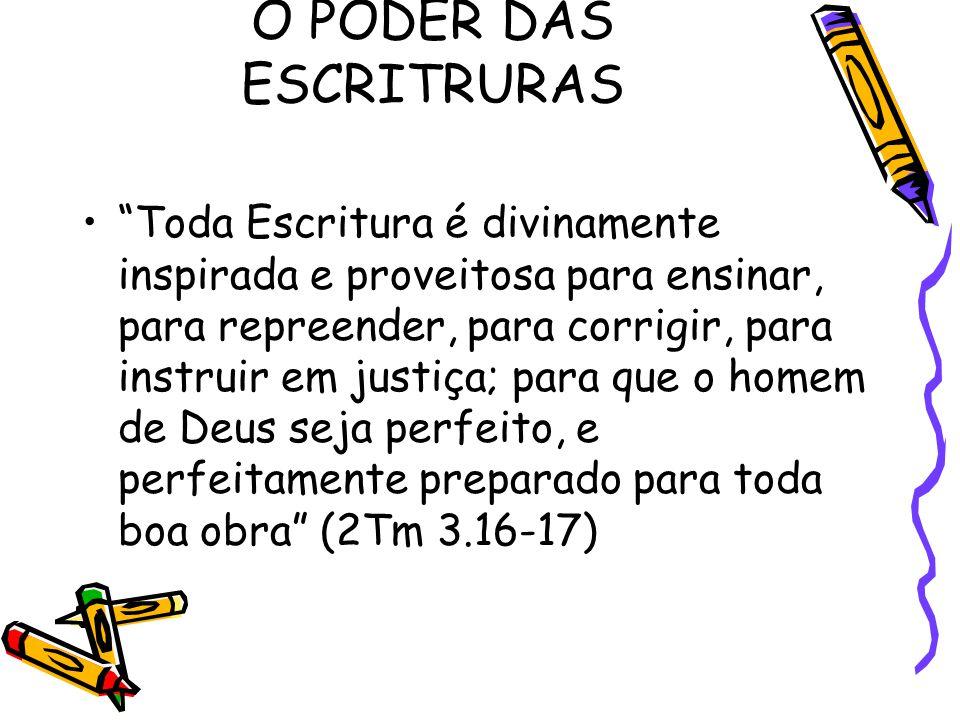 O PODER DAS ESCRITRURAS