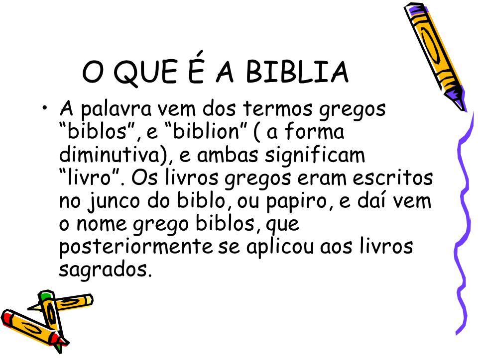 O QUE É A BIBLIA