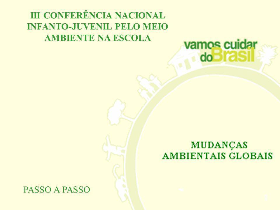 III CONFERÊNCIA NACIONAL INFANTO-JUVENIL PELO MEIO AMBIENTE NA ESCOLA