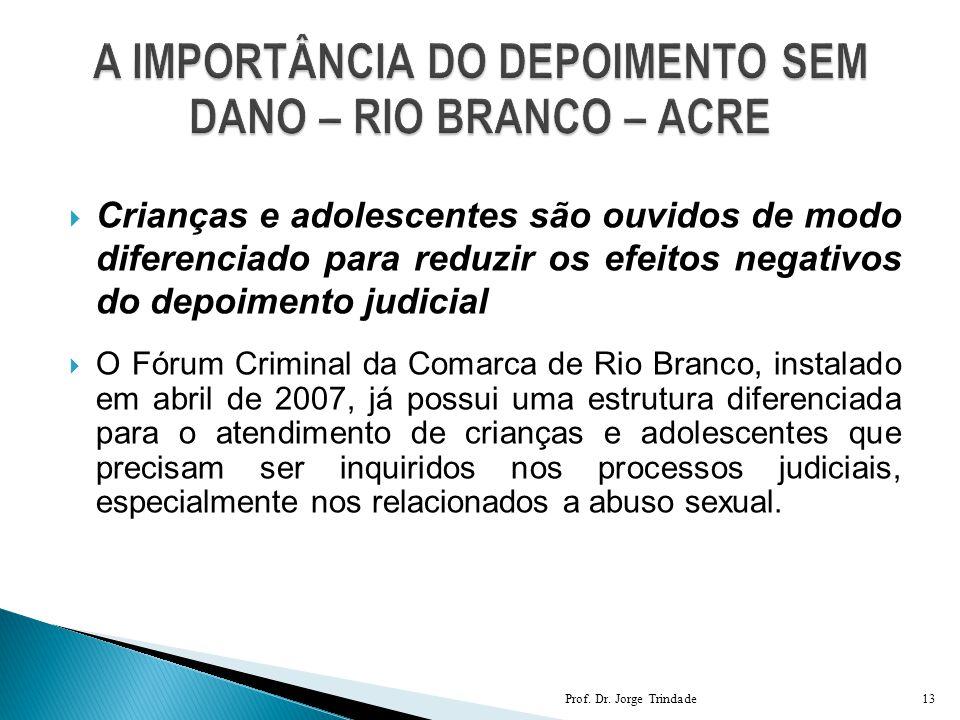 A IMPORTÂNCIA DO DEPOIMENTO SEM DANO – RIO BRANCO – ACRE