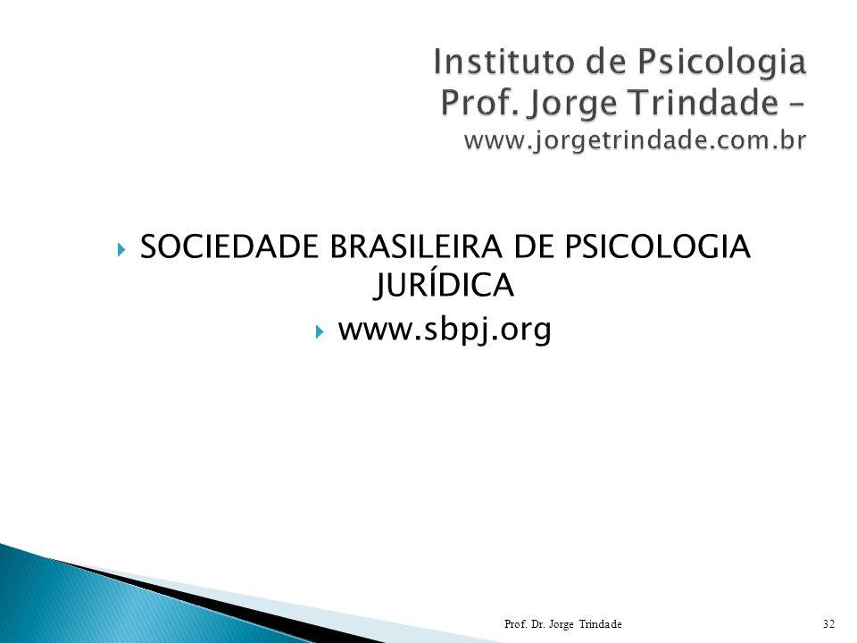 SOCIEDADE BRASILEIRA DE PSICOLOGIA JURÍDICA