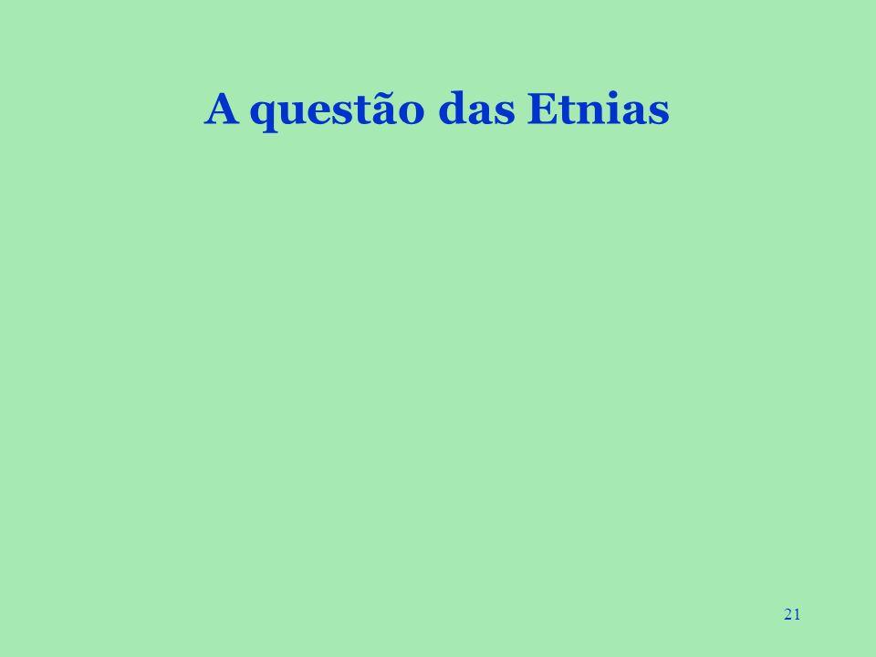 A questão das Etnias