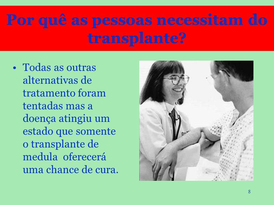 Por quê as pessoas necessitam do transplante