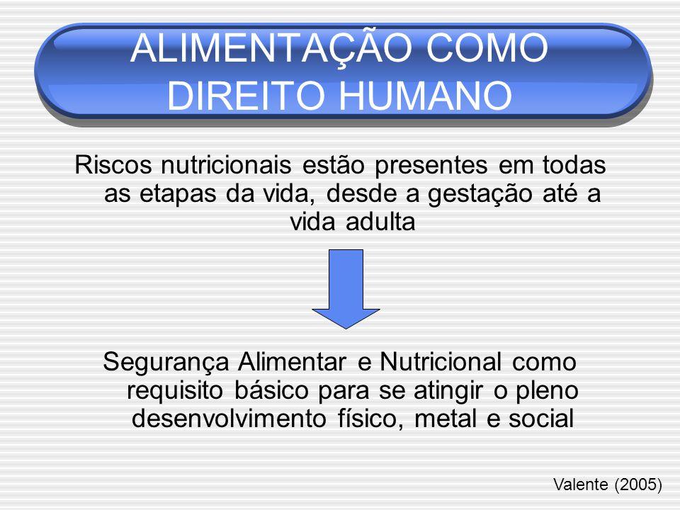ALIMENTAÇÃO COMO DIREITO HUMANO