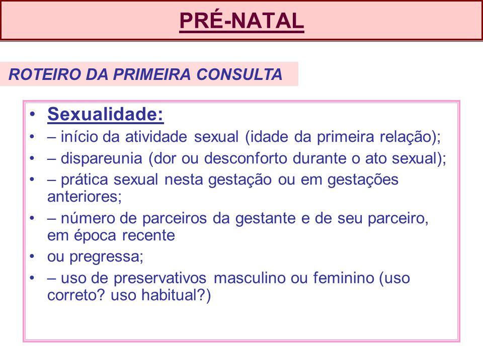 PRÉ-NATAL Sexualidade: