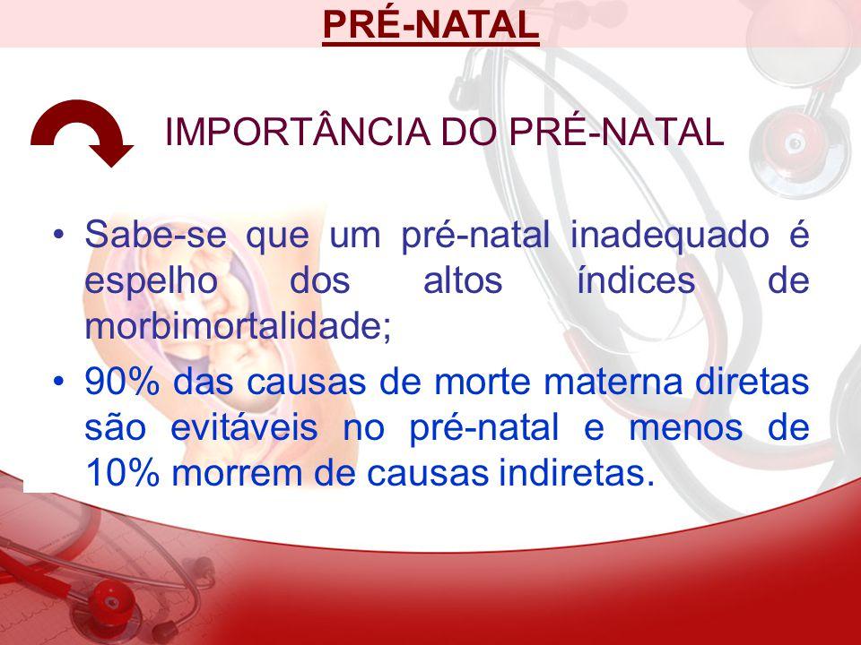 IMPORTÂNCIA DO PRÉ-NATAL
