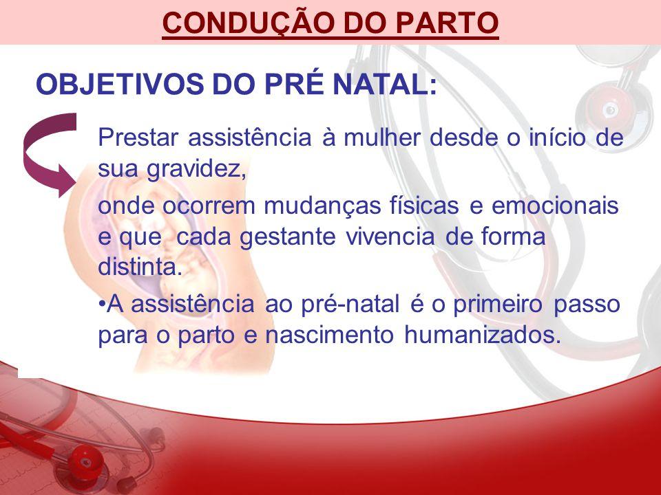 OBJETIVOS DO PRÉ NATAL: