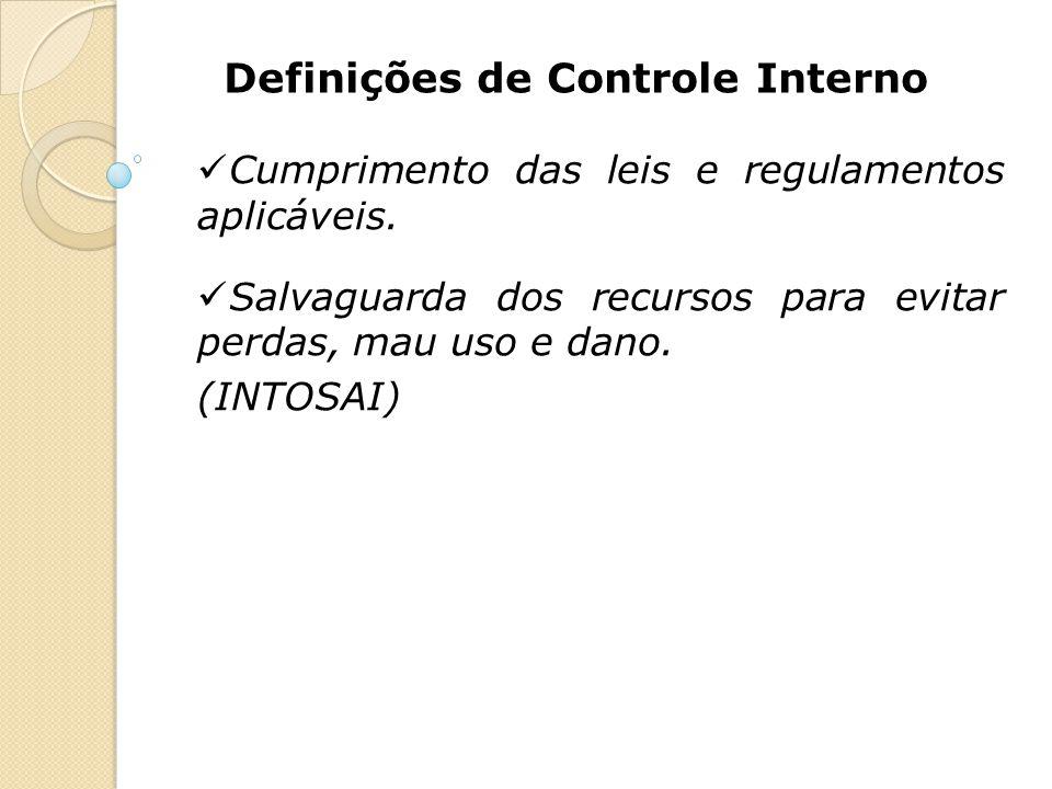 Definições de Controle Interno