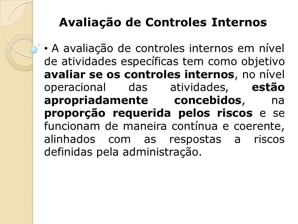 Avaliação de Controles Internos