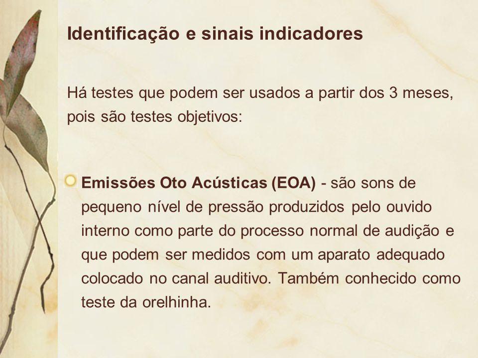 Identificação e sinais indicadores