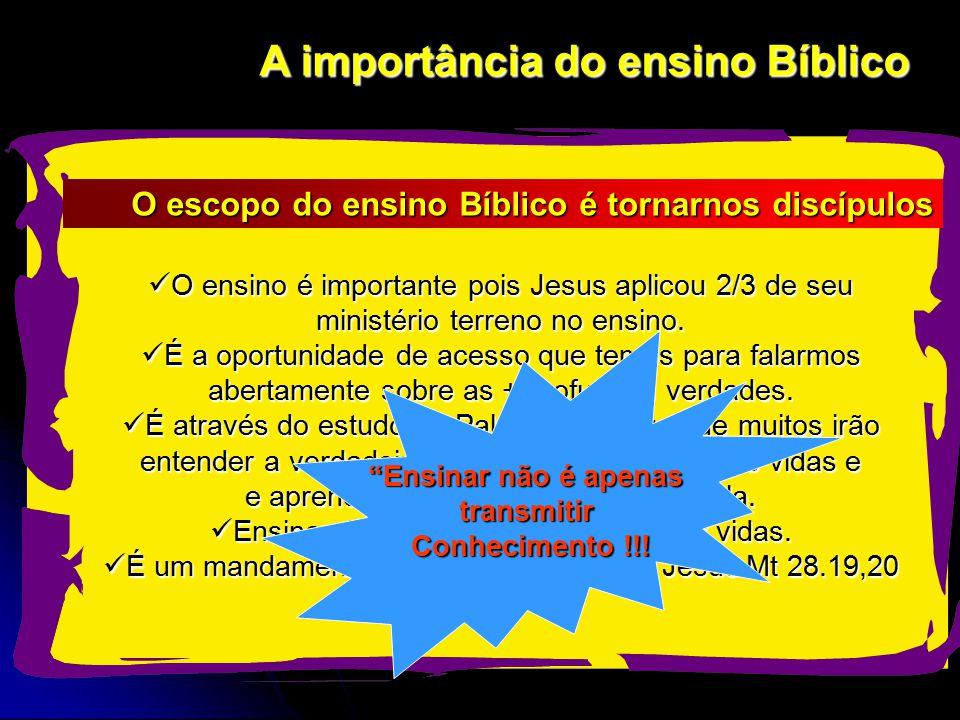 A importância do ensino Bíblico