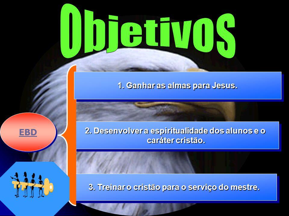 Objetivos EBD 1. Ganhar as almas para Jesus.