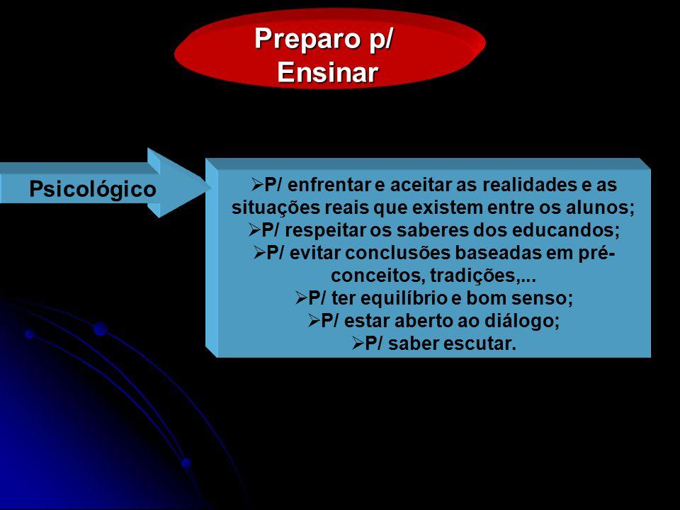 Preparo p/ Ensinar Psicológico