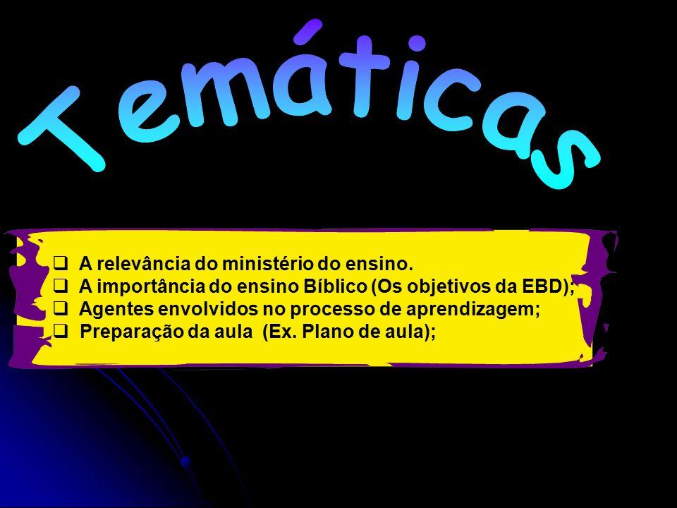 Temáticas A relevância do ministério do ensino.