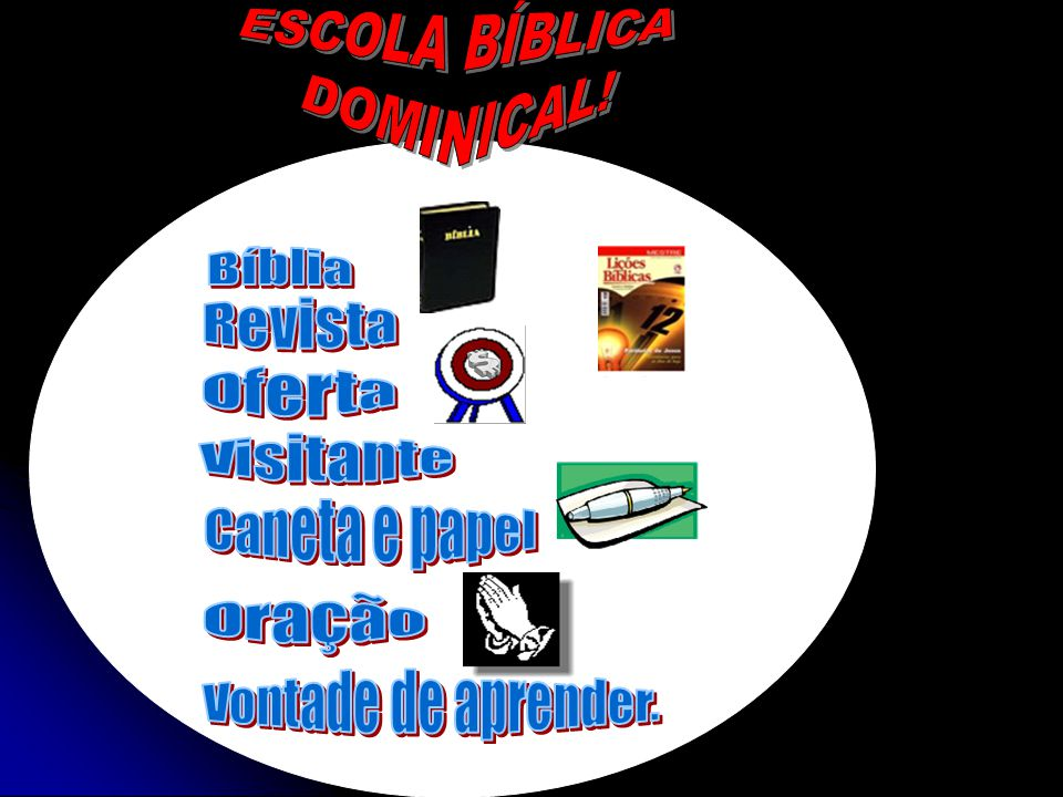 ESCOLA BÍBLICA DOMINICAL. Bíblia. Revista. Oferta.