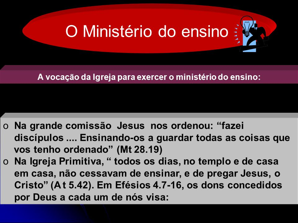 A vocação da Igreja para exercer o ministério do ensino: