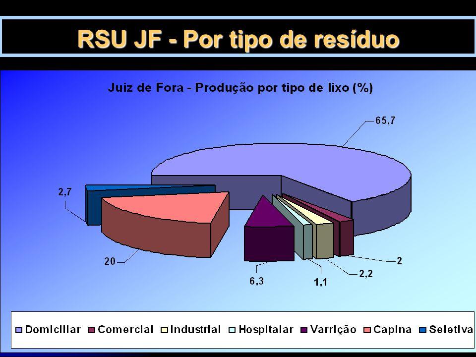 RSU JF - Por tipo de resíduo
