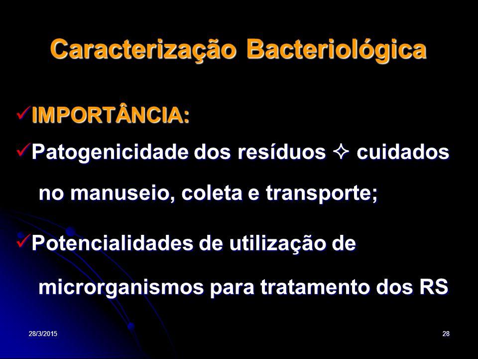 Caracterização Bacteriológica