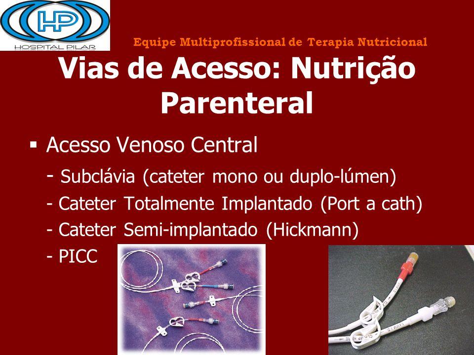 Vias de Acesso: Nutrição Parenteral