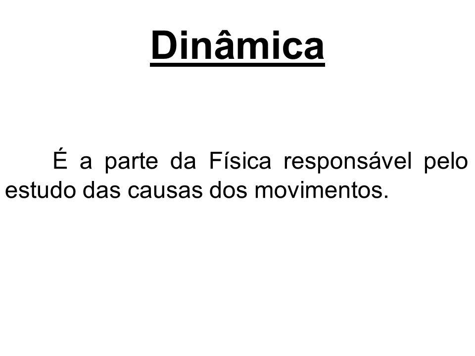 Dinâmica É a parte da Física responsável pelo estudo das causas dos movimentos.