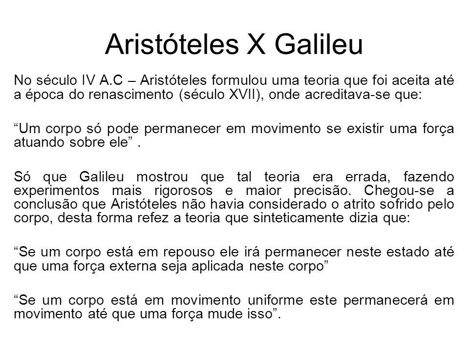 Aristóteles X Galileu