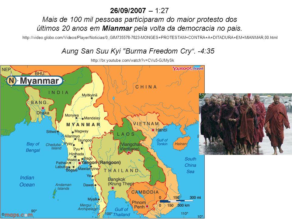Aung San Suu Kyi Burma Freedom Cry . -4:35