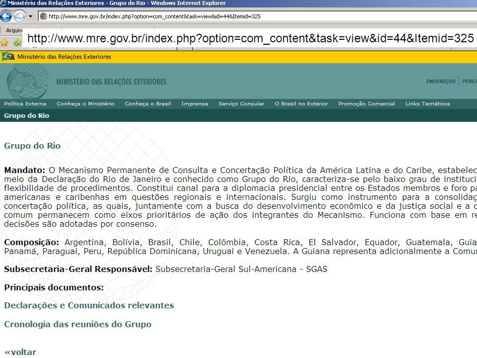 http://www. mre. gov. br/index. php