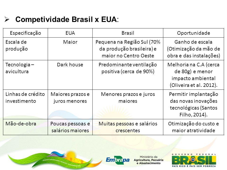 Competividade Brasil x EUA: