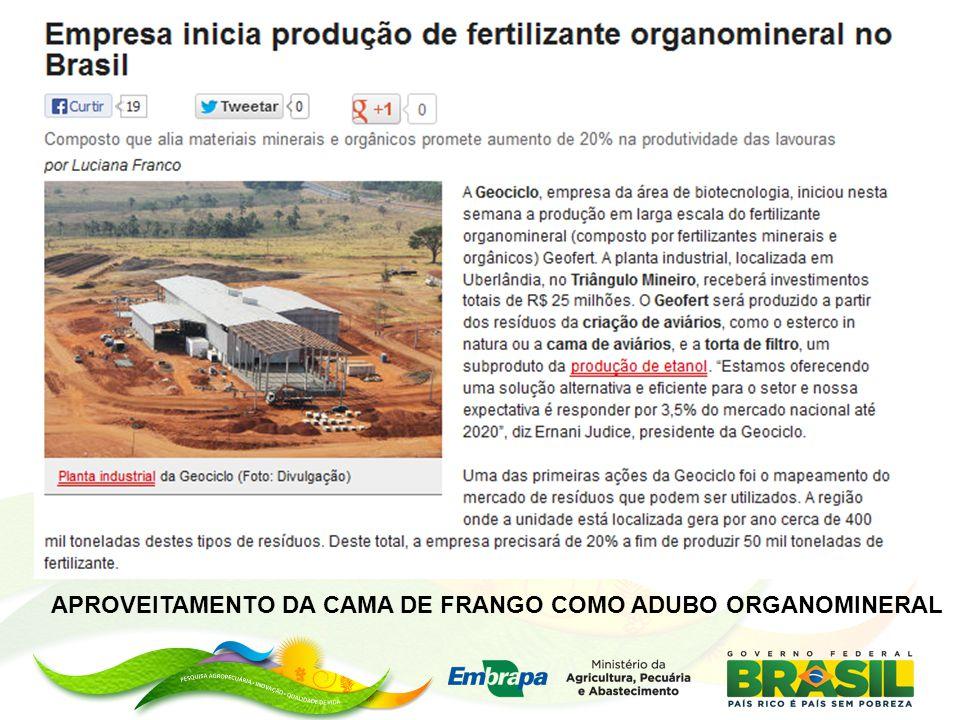 APROVEITAMENTO DA CAMA DE FRANGO COMO ADUBO ORGANOMINERAL