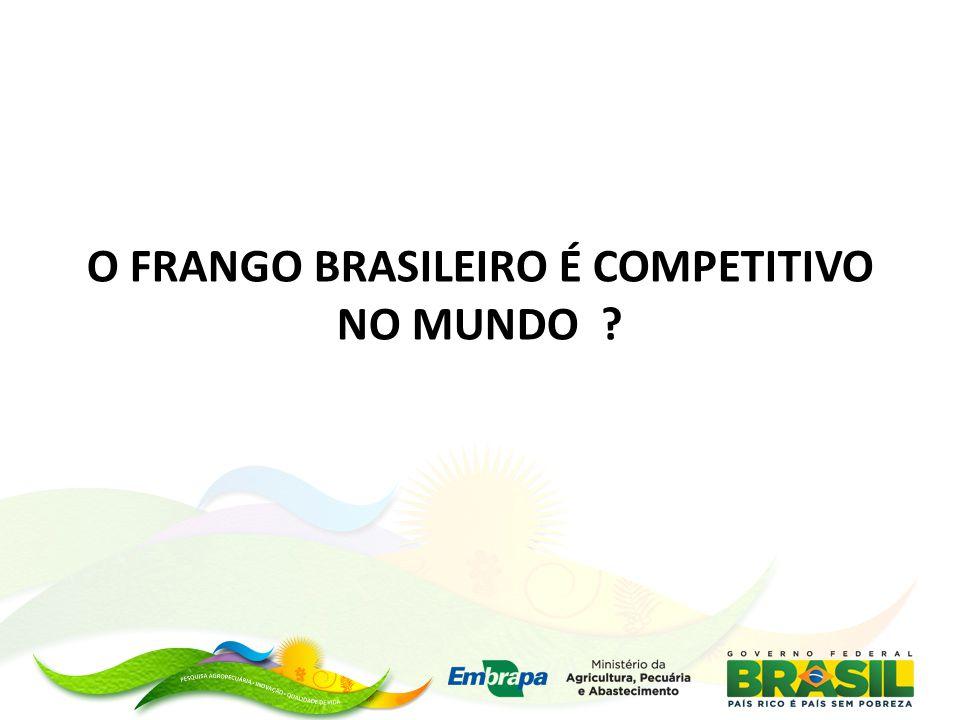 O FRANGO BRASILEIRO É COMPETITIVO NO MUNDO