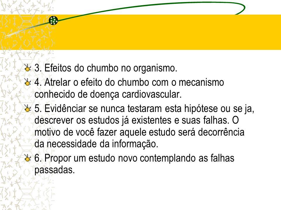 3. Efeitos do chumbo no organismo.